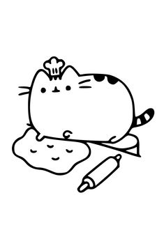 Pusheen Coloring Pages, Cat Coloring Page, Free Coloring Pages, Coloring Sheets, Pencil Art Drawings, Kawaii Drawings, Animal Drawings, Gato Pusheen, Cat Party