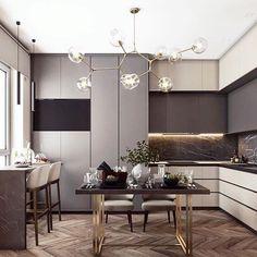 Modern Luxury Kitchens For A Grand Kitchen Kitchen Room Design, Best Kitchen Designs, Living Room Kitchen, Kitchen Interior, Home Interior Design, Kitchen Decor, Kitchen Dining, Luxury Kitchens, Home Kitchens