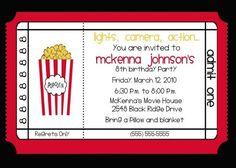 Movie Themed Birthday Party  Party Ideas    Birthdays