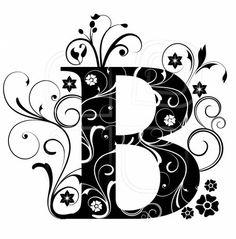 Letter Capital B, alphabet, arabic, art