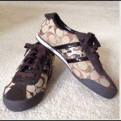 Coach shoes ADDITIONAL PICS!!!!! Coach shoes, worn two times excellent condition runs big Coach Shoes