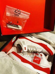 b4a1cbed042 Nike Air Jordan Retro 3 Air Max 1 Tinker Hatfield White/University Red Sz 13