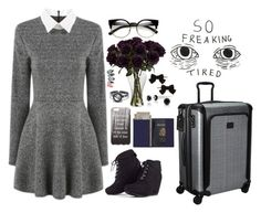 """""""Traveling✈️"""" by cherry-demon on Polyvore featuring ZeroUV, MARA, LULUS, Bling Jewelry, Royce Leather, Dorothy Perkins and Tumi"""