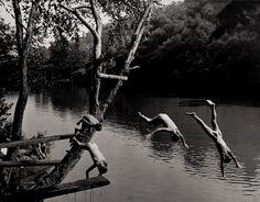 Boys Swimming on the Patapsco River, Maryland. 1933  •  A. Aubrey Bodine