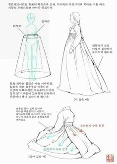 how to draw hanbok Korean Traditional Dress, Traditional Outfits, Art Reference Poses, Drawing Reference, Drawing Techniques, Drawing Tips, Formation Couture, Korean Hanbok, Poses References