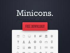 Miniicons-free-minimal-clean-icons - 25 sets