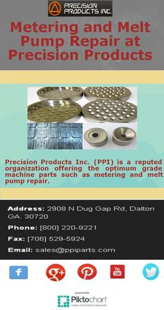 Precision Products Inc. (PPI) is a reputed organization offering the optimum grade machine parts such as metering and #meltpumprepair.