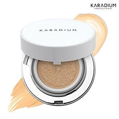 KARADIUM Real Cushion Foundation SPFT50 PA 15g 2 Colors  Brightening  AntiWrinkle  UV Protection 2 Natural Beige ** You can find out more details at the link of the image.