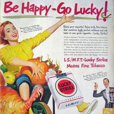 Vintage Lucky Strike Thanksgiving ad