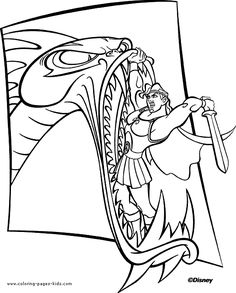 Hercules Color Page Disney Coloring Pages Plate Sheetprintable