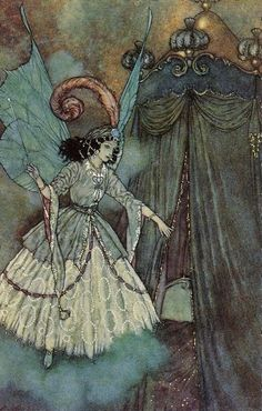Edmund Dulac, illustration from Beauty and the Beast, I've always loved this, would hang it in my daughters room
