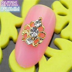 Tint 10PCS RH731 Special Design Luxury Rhinestone 3D Alloy nail art DIY Nail beauty Nail Decoration Nail Salon >>> Find out more about the great product at the image link.