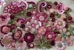 Set of flowers 60 pcs Irish crochet hand crochet от AlisaSonya