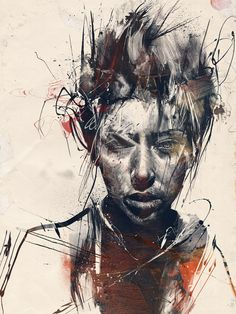 "Russ Mills, the artist combines photography, illustration, and fine art. Mills says of his work: its a ""collision of real and digital media it is primarily illustration based with a firm foundation in drawing, I focus mainly on the human form particularly the face, interweaving elements from the animal kingdom often reflecting the absurdity of human nature."""