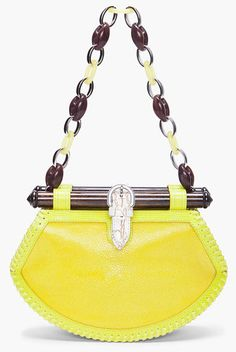Proenza Shouler Lime TIki Clutch