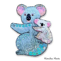 @kimikahara • Instagram写真と動画 Embroidery Designs, Embroidery Art, Smurfs, Cute Animals, Arts And Crafts, Parenting, Textiles, Stitch, Instagram