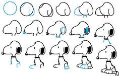 Como dibujar a Snoopy