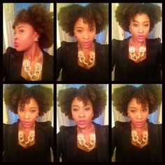 @nappturallychicjere looks fab while embracing her shrinkage and beautiful fro! #afro #naturalhair #teamkbb #KBBFanFeature