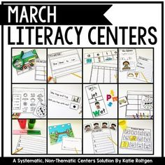 This March Literacy Centers is great for the Kindergarten classroom. This pack contains 20 non thematic literacy centers that can be used any time & in a variety of classroom settings. Included are five center types: Sight Words, Sort It Out, Letters & Sounds, Literacy Spotlight & I'm a Writer. Each skill area has a new center activity for each week. Included are 20 centers, centers organization & management ideas & student instruction cards with a real photo of each activity for your Kinders.
