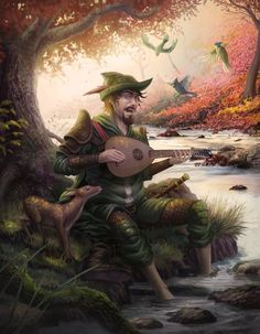 Cantar del Bardo by feintbellt | Digital Art / Drawings & Paintings / Fantasy | Character Concept Bard