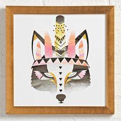 print & pattern blog - land of nod : Boho Wolf by Anna Dance