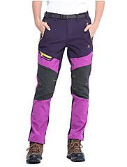 Women's Hiking Pants Outdoor Waterproof Thermal / Warm Windproof Insulated Rain-Proof Wearable Breathable Back Pocket Winter Softshell – CAD $ 130.58