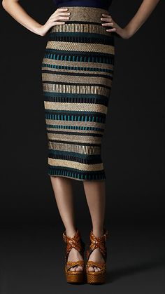 Amazing Burberry skirt. If I was skinny I would so rock this skirt!