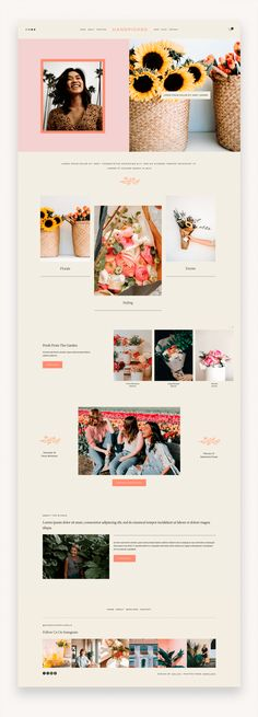 Hanpicked Squarespace Template Handpicked is a bright, colorful, and feminine Squarespace 7.0 Template design crafted for lifestyle brands to share their services, portfolio, shop and blog posts. #Squarespace #SquarespaceTemplate #TemplateKit #Business #Copywritter #Shop #SquarespaceTemplate #Business