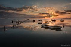La tranquillità by Leonardo Martino on Leo, Landscapes, Glamour, River, Celestial, Sunset, Outdoor, Paisajes, Outdoors