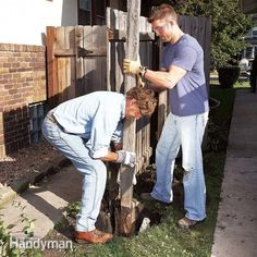 How To Fix A Leaning Fence It S Easier Than You Might