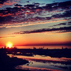 Lake Huron sunset, near Tobermory Lake Huron, Sunsets, Ontario, Celestial, Outdoor, Outdoors, Outdoor Games, Outdoor Life, Sunset