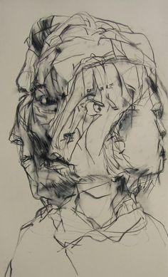L. Verkler - Twist - Charcoal drawing