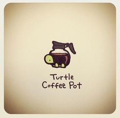 Turtle coffee pot