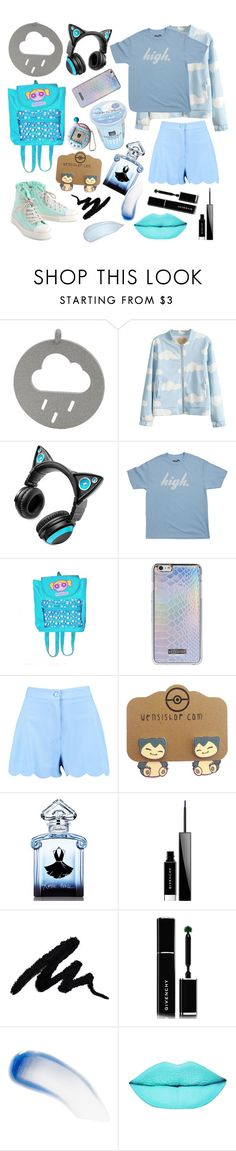"""Raining Day"" by vitorialn ❤ liked on Polyvore featuring Brookstone, Boohoo, Guerlain, Givenchy and Lipstick Queen"