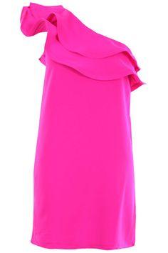 Double Layered Flouncing Hem Pink Dress