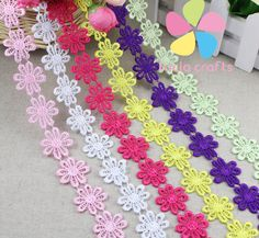2.5cm multi option handmade patchwork material lace ribbon diy garment sewing lace trim headwear accessories 2y/lot  050025031