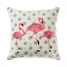 Adairs Kids Animal Cushion Flamingos, Cushions and soft furnishings from Adairs, discount home accessories