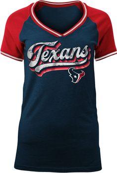 817044c78 Team Apparel Women s Houston Retro Glitter T-Shirt Nfl Team Apparel