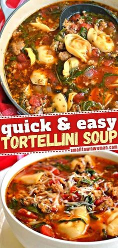 13 reviews 35 minutes Serves 6 Nothing can warm you up like this hearty meal! Loaded with Italian sausage and cheese tortellini in a perfectly seasoned broth, this delicious soup will soon become your favorite. Check out how you� More Soup Recipes, Dinner Recipes, Cooking Recipes, Healthy Recipes, Chili Recipes, Healthy Soups, Oven Recipes, Family Recipes, Grilling Recipes