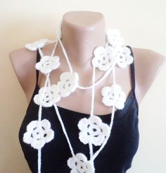 Handmade Lariat scarf new fashion 2012 trends by BloomedFlower.