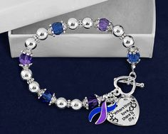 Blue & Purple Where There is Love Ribbon by FundraisingForACause