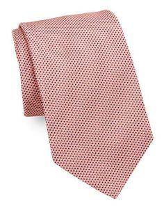 <ul> <li>Handsome finishing touch in a luxe silk tie</li> <li>Width, <li>Silk</li> <li>Dry clean</li> <li>Made in USA</li> </ul> Light Peach, Light Orange, Color Palate, Tie And Pocket Square, Tie Colors, Lord & Taylor, Brooks Brothers, Silk Ties, Color Show
