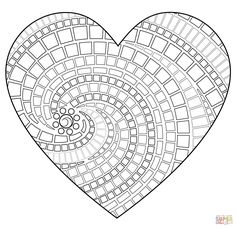 Free Mosaic Patterns to Print | Click the Heart Mosaic coloring pages to view printable version or ...                                                                                                                                                      More