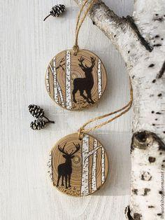 Christmas Ornaments To Make, Diy Christmas Gifts, Christmas Art, Christmas Projects, Christmas Decorations, Xmas, Wood Burning Crafts, Wood Burning Art, Wood Crafts