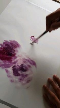 Easy Flower Painting, Abstract Flower Art, Canvas Painting Tutorials, Acrylic Painting Flowers, Pink Painting, Simple Acrylic Paintings, Diy Canvas Art, Acrylic Painting Canvas, Cuadros Diy