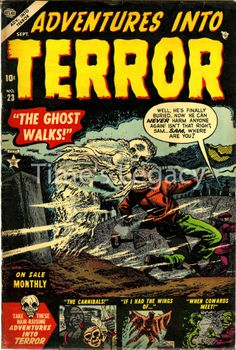 Adventures Into Terror No. 23 Sept 195 Vintage Reproduction Horror Comic Cover  £4.75