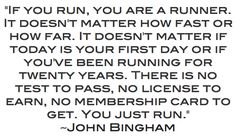 Anyone can be a runner, all it takes is for you to get out there and do it!