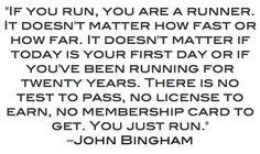 Running quote from John Bingham