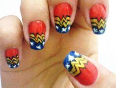 wonder woman nail art | Wonder Woman