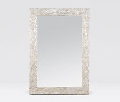 Mirrors | Made Goods - 26 x 38, Kabibe shells shimmers with warm white and cream tones.